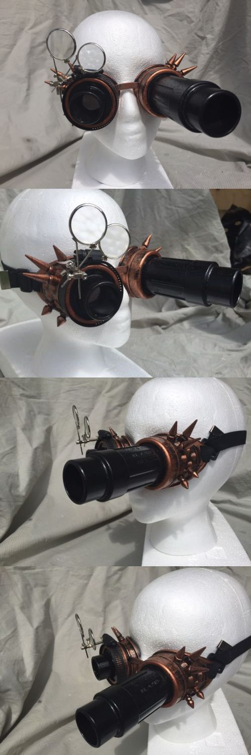 Other Theatrical Clothing 163149: Ancient Copper Metal Spike Steampunk Safety Goggles Cosplay Top Hat Lab Gear -> BUY IT NOW ONLY: $35 on eBay!