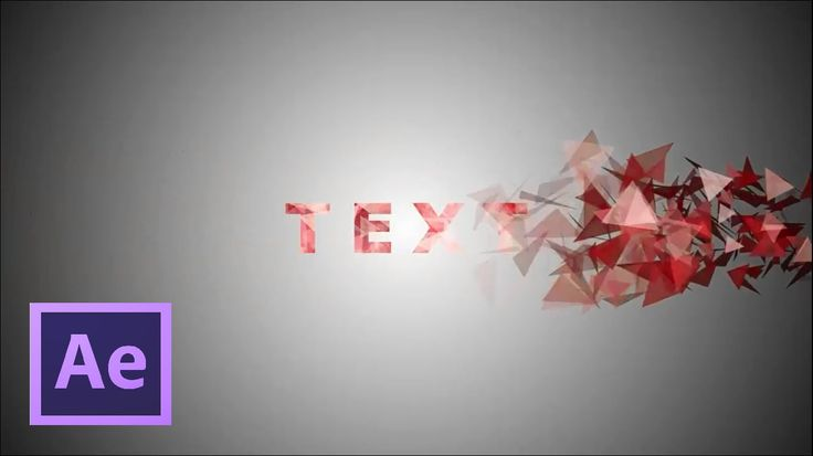After effects Tutorial and free Projects : Particles Text Effects