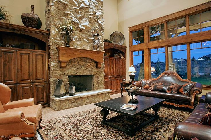 63 best ideas about lodge style inspirations on pinterest for Lodge style fireplace ideas