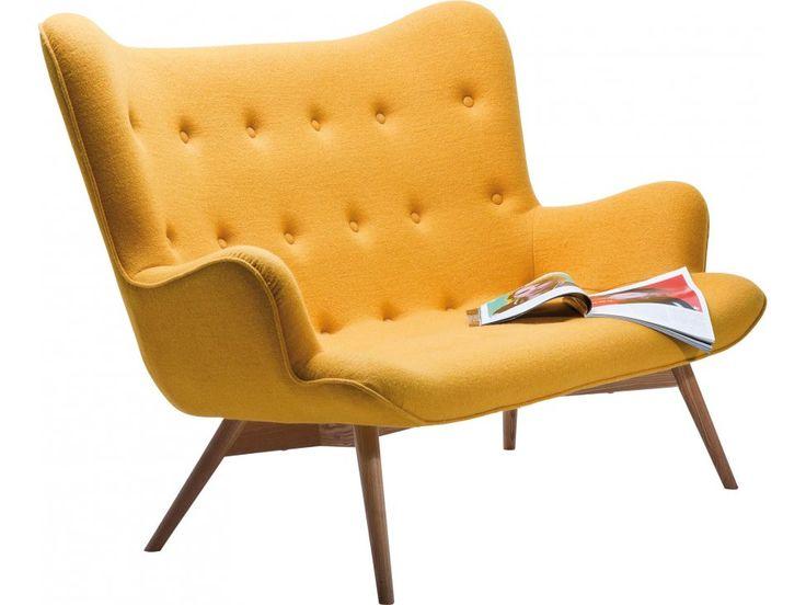 Sofa Angels Wings żółta — Sofy Kare Design — sfmeble.pl