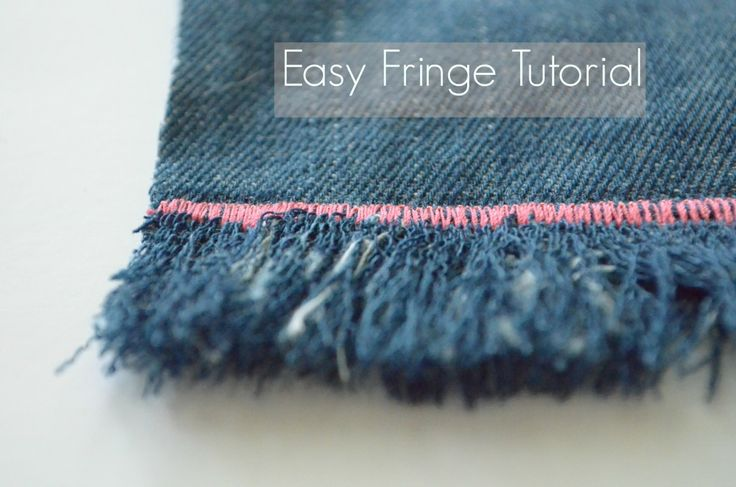 Tutorial:  Fringe 101 #sewing Learn how to make an easy finished fringe to add to your favorite sewing projects #diy