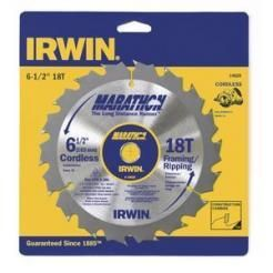 "Irwin Marathon 14020 6-1/2"""" 18T Framing/Ripping Cordless Circular Saw Blade"