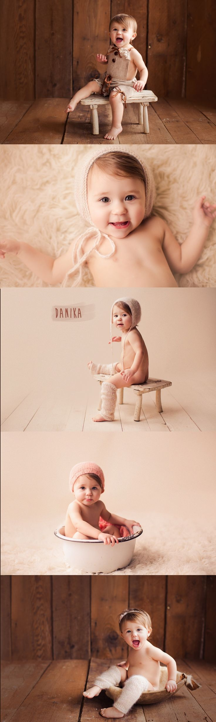 baby photo shoot with cute props