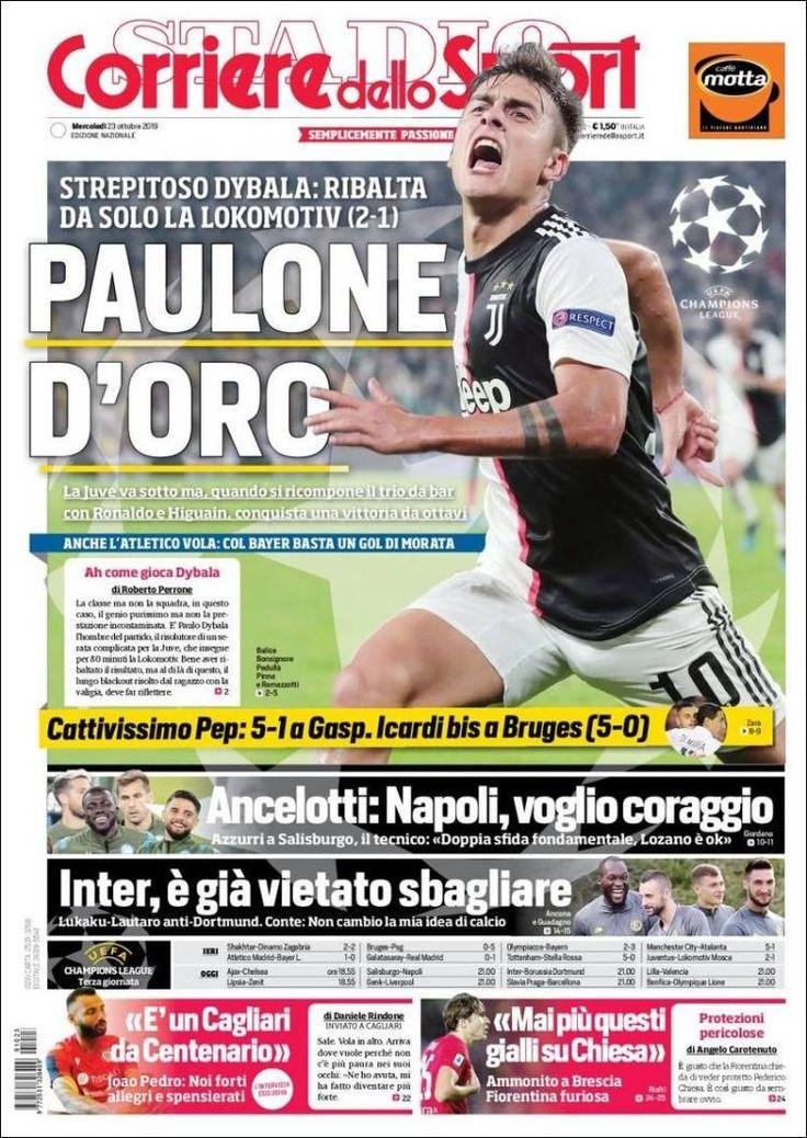 Corriere dello Sport (23 de octubre de 2019) Icardi