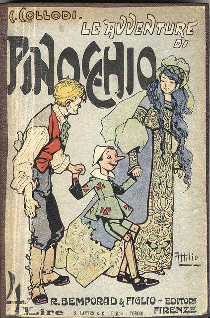 Pinocchio Le Avventure Di Pinocchio Italian copy . 1921 ( I think ) . illustrations by Carlo Chiostri