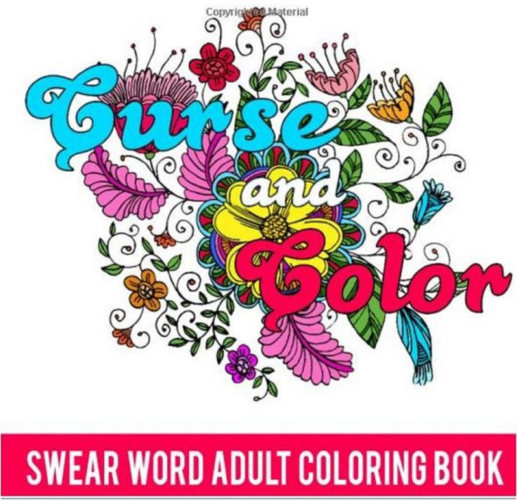 Adults Coloring Book Swear Words Designs Curse Color Stress Relief Patterns Fun Swearwords