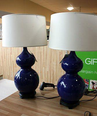 Spray painting ceramic lamps