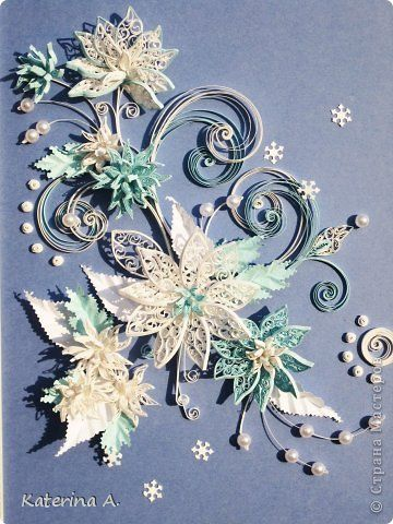 Painting mural drawing Birthday flowers Paper Quilling Snowflakes photo 1