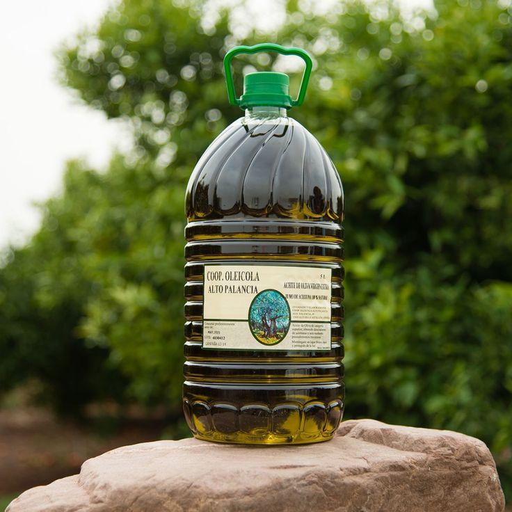 Productos elaborados – Naranjas Marisa. BOTELLA DE ACEITE DE OLIVA VIRGEN EXTRA DE 5 LITROS. Productos elaborados 100% naturales y de cosecha propia procedente de la Sierra de Espadán.