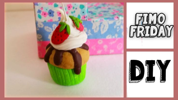 Polymer Clay Whipped Cream Cupcake Tutorial - Fimo Friday