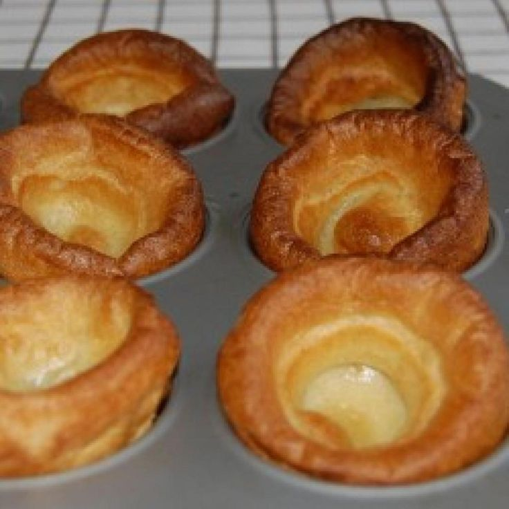 Mom always made Yorkshire pudding with roast beef.  It's best with Prime Rib and is perfect for soaking up the great Au Jus that the roast renders.  It's super easy and delicious!