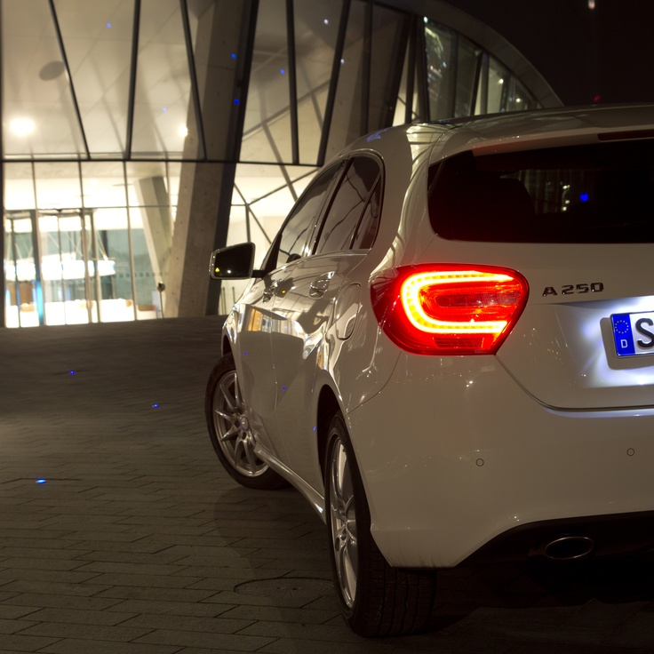 Mercedes-Benz A-Class at the Mercedes-Benz Museum. Photo by Fabian Meßner.  Fuel consumption combined: 7.1-3.6 (l/100km), CO2 emission combined: 165-92 g/km.