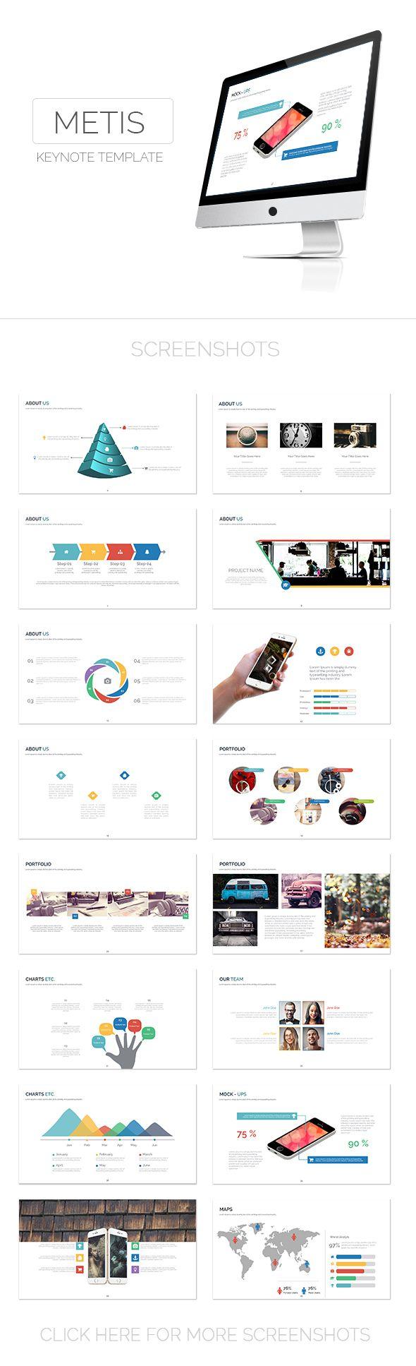 Metis Keynote Template - Creative Keynote Templates