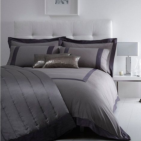 J by Jasper Conran Grey 'Mayfair' bed linen- at Debenhams Mobile