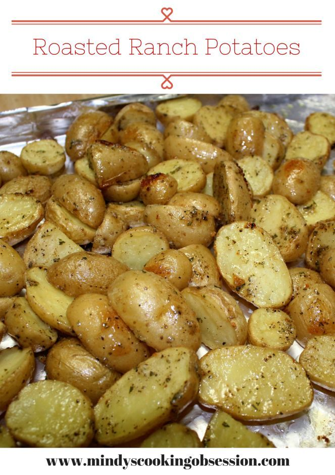 These are quick and easy Ranch Roasted Potatoes using Hidden Valley Ranch Dressing mix.