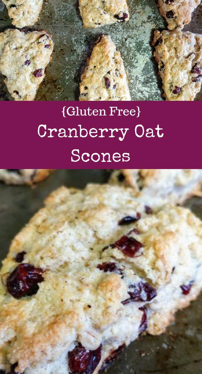 Gluten Free Cranberry Oat Scone