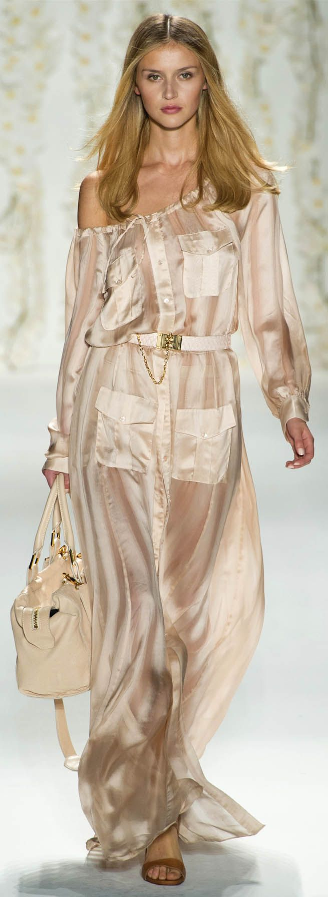 #Rachel Zoe Spring Summer 2013 Ready-To-Wear Collection #Trend Neutrals #Trend Maxi