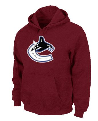 NHL Vancouver Canucks Big & Tall Logo Pullover Hoodie - Red