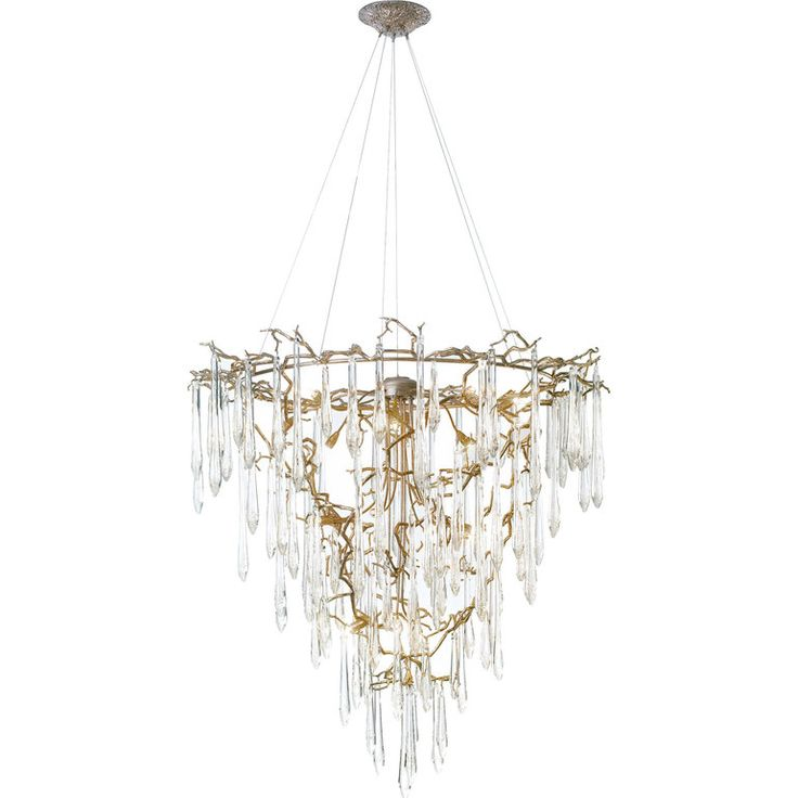 Aqua Funnel Chandelier By Serip Lighting Contemporary, Glass, Metal, Ceiling by Collective Form