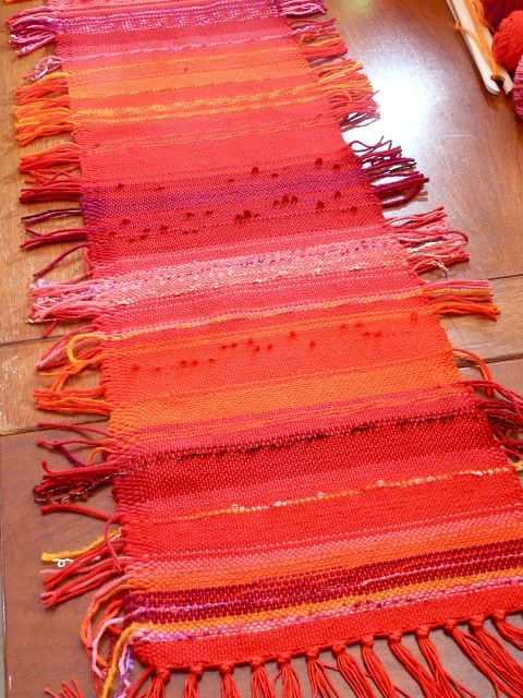 done on a rigid heddle loom