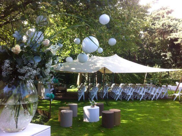 Mooi voor een ceremonie in je tuin, bos, weiland of een andere bijzondere locatie. #stretchtent #ceremonie #verhuur