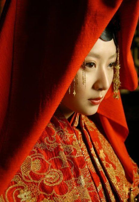 Chinese bride costume from Ming dynasty.