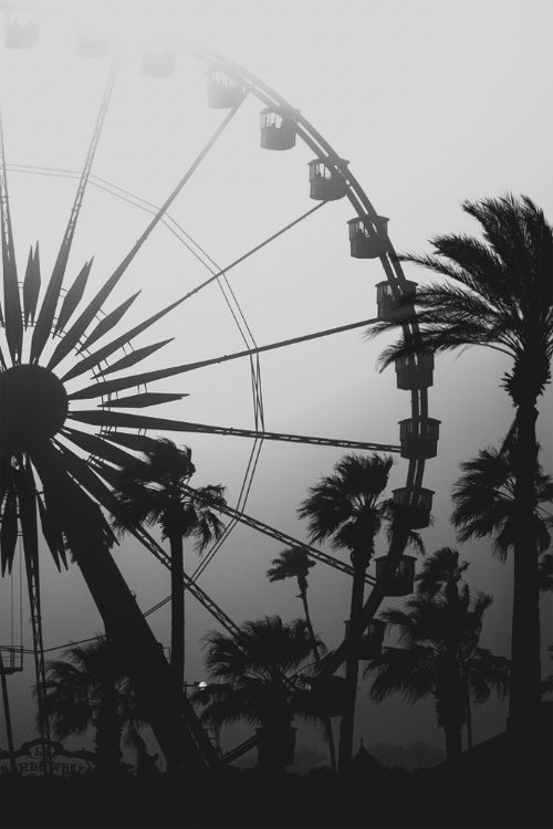 Ferris wheel black and white photography marker background ink silhouettes