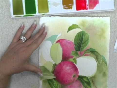 This short demonstration will show the new watercolor painter how to create form and dimension with soft edges. Join Neadeen Masters and watch as she begins to create the form of a leaf.  http://store.artapprenticeonline.com/watercolors/