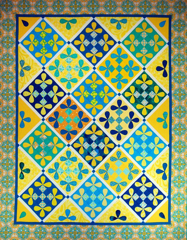 """Lemon Drops"" from C&T Publishing's book ""Flip & Fuse Quilts"" by Marcia Harmening of Happy Stash Quilts"