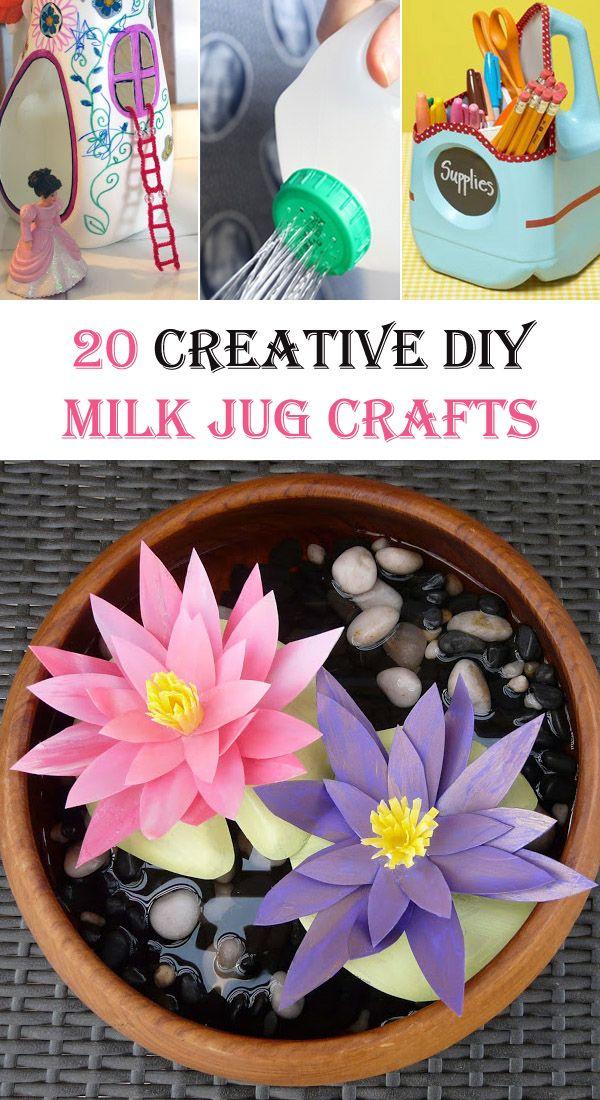 20 Creative DIY Milk Jug Crafts