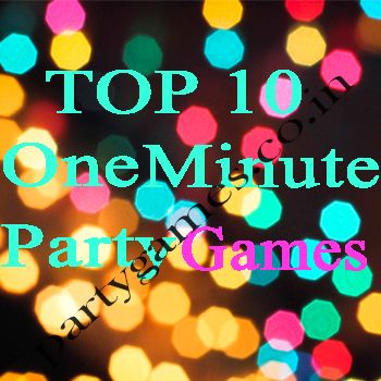 Exciting one minute party games