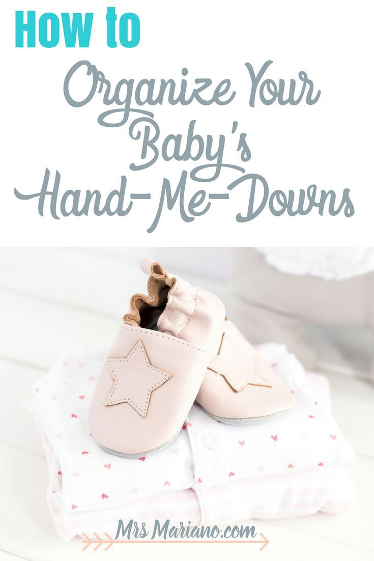 Need help organizing your baby's clothes? Read about my method for organize baby clothes - hand-me-outs and clothes to get rid of!