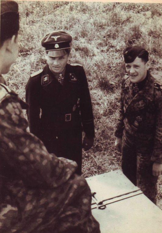 SS-Obersturmführer Michael Wittmann with Tank crew 1944
