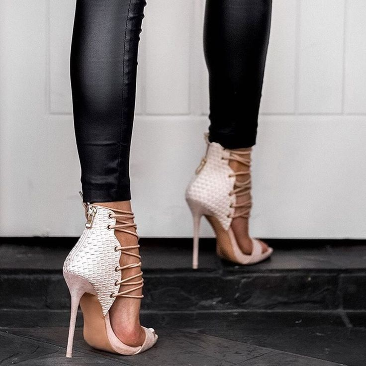 OBSESSED. these shoes and leather leggings!