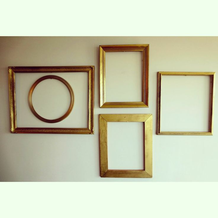 Golden antique frames via BRIANCEAU COUTURE. Click on the image to see more! #wallart #gold #frame #chic