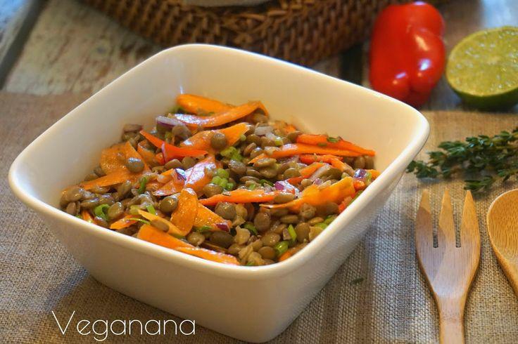 Salada de Lentilha com Cenouras - Veganana