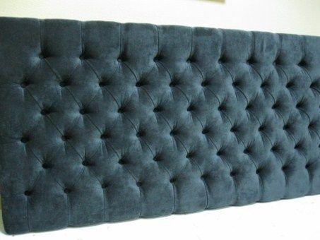 cabecero de cama tapizado en tejido polipiel con estructura de madera de abeto y base de particulas goma espuma de alta densidad