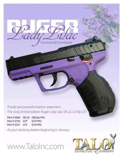 Ruger Lady Lilac SR-22LR (I so want this pistol!!!!!)