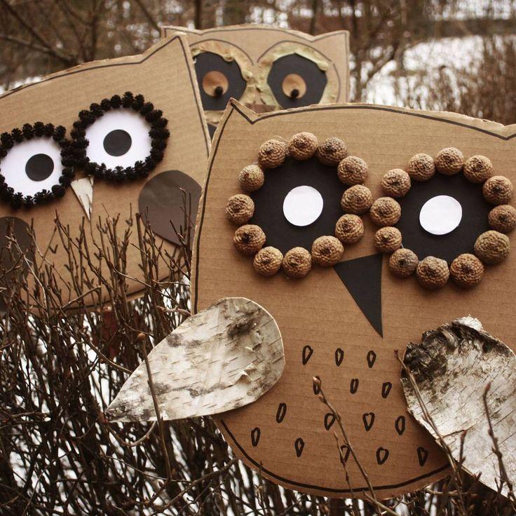 mala_alternatywa#forestpreschool #forestkids #naturelovers #owl #birds #preschool #preschoolteacher #artteacher #nature #przedszkole #sowy #sowa #kidsart #kidscrafts #praceplastyczne #winter #zima...