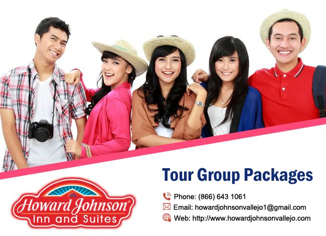 Tour Groups are warmly welcomed! Howard Johnson Inn & Suites Vallejo offers customized packages. http://goo.gl/Tpoahw