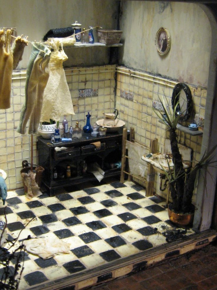 my miniature project is a dollhouse that refers the early sixties not sure this works except the floor is what i have for my kitchen - Versand Container Huser Plne Pdf