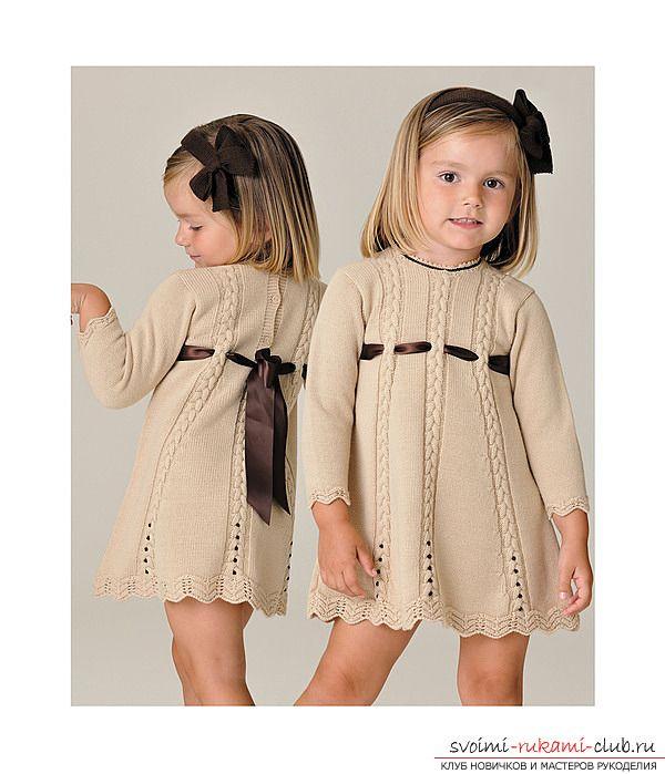 Вяжем спицами платье для девочки своими руками. Схема и описание выполнения работы. Фото и рекомендации специалистов по последовательности вязания платья
