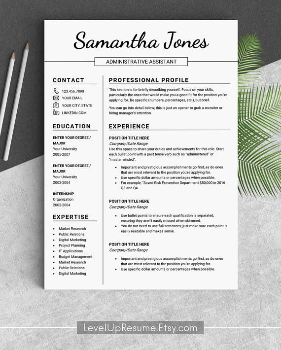 Design resume template Professional resume templates Modern resume ...