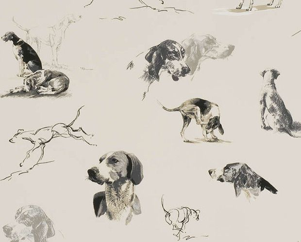 This wallpaper is reminiscent of artists' practice sketches.