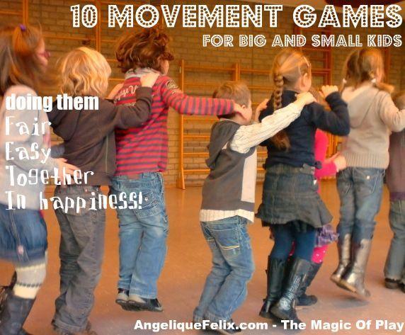 10 movement games for young children / 10 beweeg spelen voor jonge kinderen | AngeliqueFelix.com - The Magic of Play