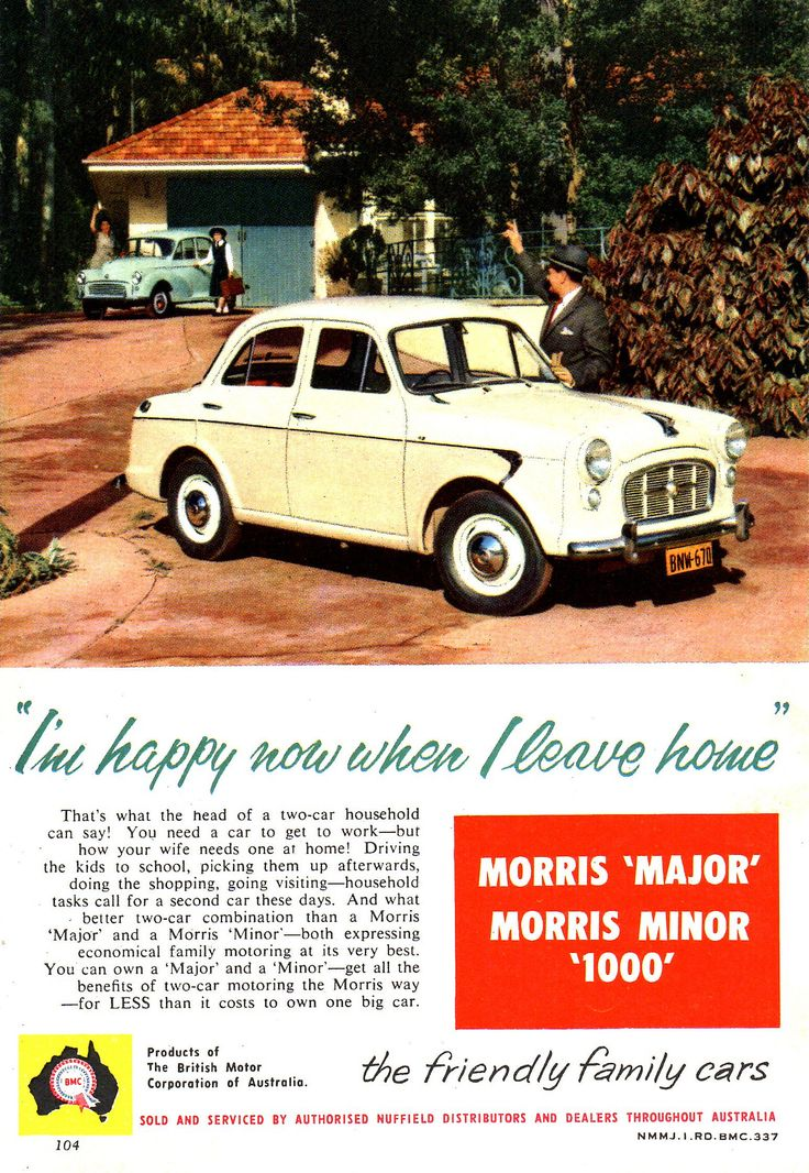 https://flic.kr/p/FxHiq2   '58 Morris Major & Minor 1000 BMC Aussie Original Magazine Advertisement