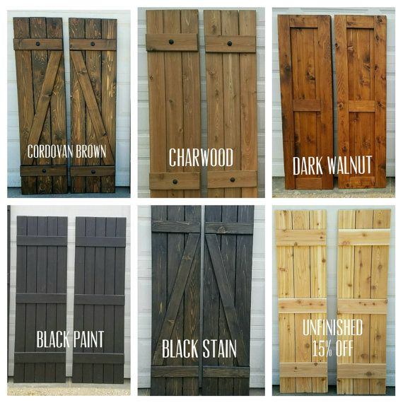 Best 25 exterior shutter colors ideas on pinterest Best black exterior wood stain