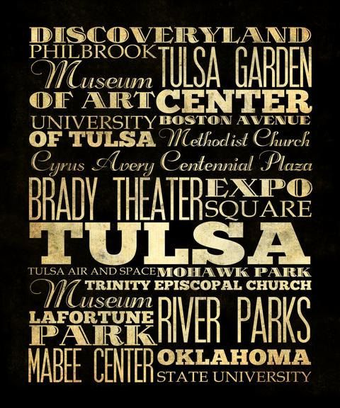 429 best tulsa images on pinterest tulsa oklahoma counter and rooftop legacy house art typography print with lots of great tulsa landmarks malvernweather Gallery