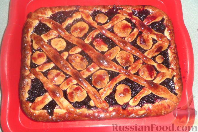 Фото к рецепту: Быстрый ягодный пирог