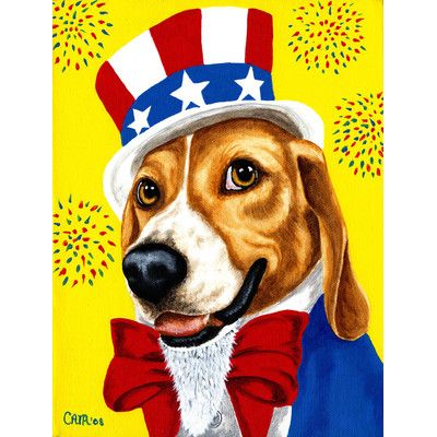 "Caroline's Treasures Uncle Sam's USA Beagle 2-Sided Garden Flag Size: 15"" H  x 11"" W"